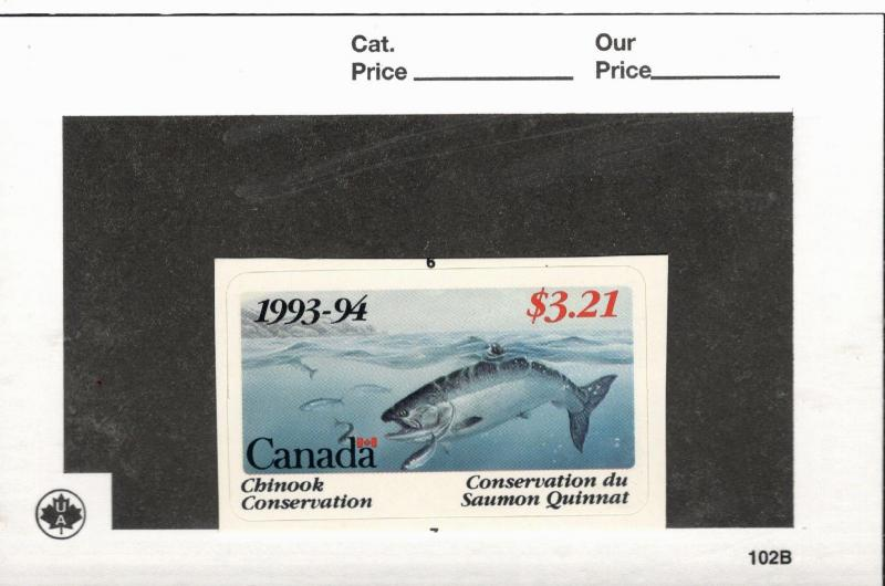 1993-94 Canada  British Columbia Chinook Conservation Stamp