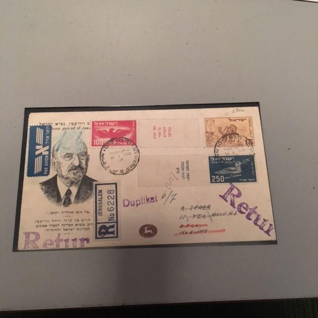 Israel Scott #C1-6 1st Airmails Full Tabbed Set on First Day Covers!!