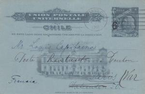 Chile 2 Used Postal Cards 1910 & 1911