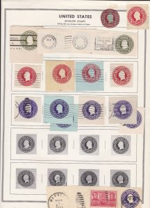 United States Envelope Stamps 1916-32 & 1925-52  Album Page Ref 45597