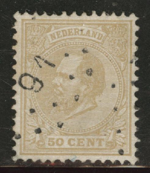 Netherlands Scott 31 used from 1872-1888 set