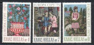 Greece Sc  1139-41 1975  Europa stamp set mint  NH