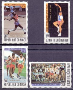 Niger. 1980. 695-98. Moscow Summer Olympic Games. MNH.