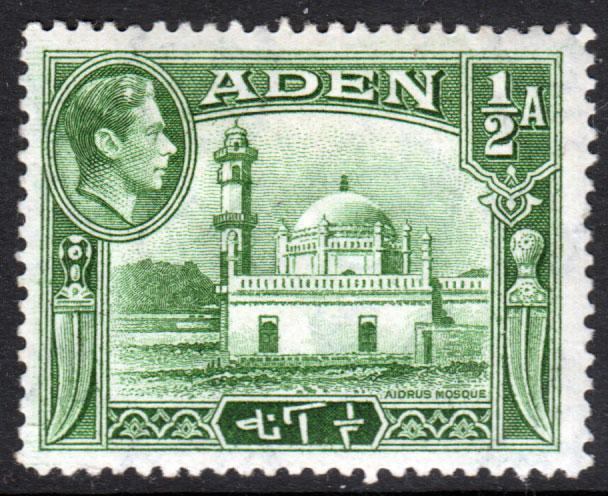 Aden KGVI 1939 0.5a Yellowish Green SG16 Mint Hinged