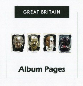 Great Britain CD-Rom Stamp Album 1840-2016 Color Illustrated Album Pages