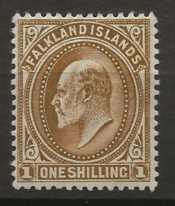 Falkland Islands 27 SG 48 MLH VF 1904 SCV $50.00 (jr)