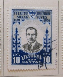 A11P5F68 Litauen Lituanie Lithuania 1930 Air Post 10c used