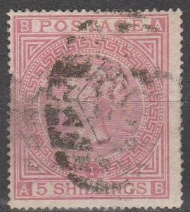 Great Britain #57 Plate 1 Used  CV $600.00  (S5977)