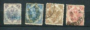 Bosnia & Herzegovina 1879 Type I Sc 2,6,7,8 Used  6030