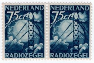 (I.B) Netherlands Revenue : Radio Licence Stamp 75c