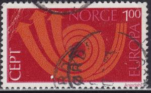 Norway 604 USED 1973  Europa CEPT - Post Horn & Arrows