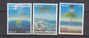 J26220  jlstamps 2003 greece hv,s of set mnh #2072-4 environment