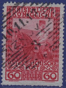 Austria - 1908 - Scott #122 - used - ZIZKOV pmk Czech Republic