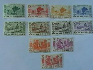 NEW HEBRIDES/BRITISH # 66-76-MINT NEVER/HINGED-COMPLETE SET-----QEII----1953