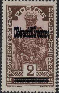 Ivory Coast 1933 SC 96b Signed Double oupt SCV$ 40.00
