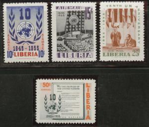 LIBERIA Scott C93-6 MNH** 1955 airmail set