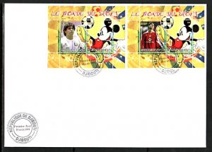 Djibouti, 2008 Cinderella issue. Disney & Soccer, First day cover. ^