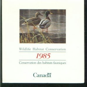 CANADA FEDERAL WILDLIFE HABITAT CONSERVATION YEAR 1985    LOT#60