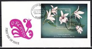Lesotho, Scott cat. 1197. Orchid s/sheet. First day Cover. ^