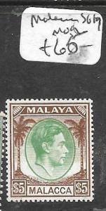 MALAYA MALACCA (P0612B) KGVI $5.00 SG 19  MOG