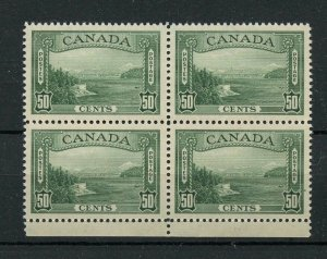#244 Vancouver Harbour 50c block of 4 VF MH Cat $240 Canada mint