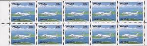 Palau - 1989 Embraer EMB-110 Airplane Booklet Pane of 10 Stamps #C19a