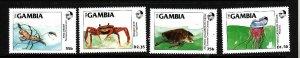 Gambia-Sc#538-41-unused NH set-Marine Life-id2-1984-