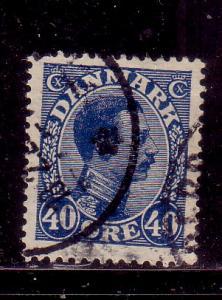 Denmark Sc 118 1922 40dk blue Christian X stamp used