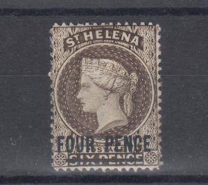 St Helena QV 1884 4d On 6d SG43cx MH J5842