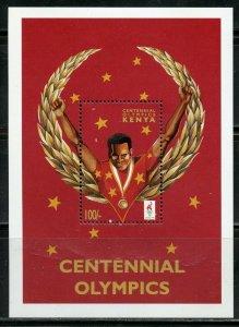 KENYA CENTENNIAL OLYMPICS SET OF TWO SOUVENIR SHEETS  MINT NH