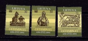 Lithuania 400-02 Hinged 1991 set