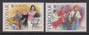 Faroe Islands 125-126 Europa MNH VF