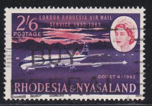 Rhodesia & Nyasaland # 182, Airmail Service, Used,