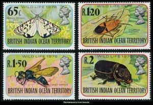 British Indian Ocean Territory Scott 86-89 Mint never hinged.