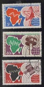 Chad TCHAD Scot 237-239 Used CTO 1971 stamp set