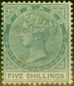 Tobago 1879 5s Slate SG5 Good Mtd Mint Signed Richter