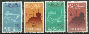 Indonesia MNH 651-4 Afro-Asian Conference