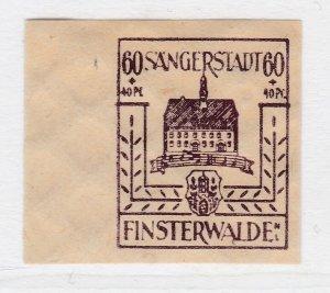 Finsterwalde WWII Germany World War II Local Stamp 1946 60+40pf MNH** A20P4F198