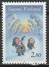 1994 Finland - Sc 948 - MNH VF - 1 single - Elves among snow-covered trees