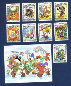 ANGUILLA - # 547-556 - VFMNH set & S/S - Charles Dickens - Pickwick Papers  1983