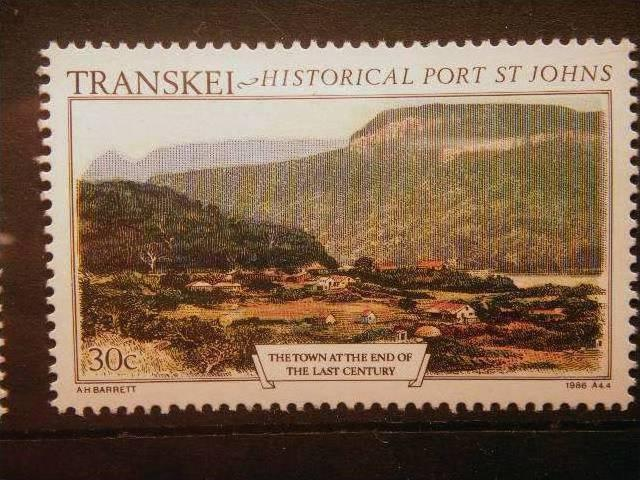 TRANSKEI, 1986, MNH 30c, Historic Port St. Johns. View of town at end of 19th...