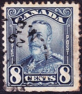 CANADA 1928 KGV 8 cents Blue SG 280 Fine Used
