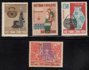 South Vietnam Scott 311-314 MH* 1967 stamp set