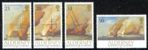 Alderney Sc# 65-68 MNH 1992 Battle of La Hogue