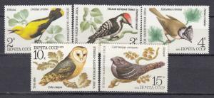 Russia - Soviet Union - 1979 Birds Sc# 4776/4780 - MNH (2629)