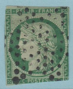 FRANCE 2 1849 MINOR THIN VERY ATTRACTIVE LOW PRICE !