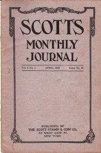 Scott's Monthly Journal April 1923 Stamp Collecting Magazine
