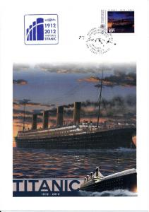 [96815] Micronesia 1912 2012 100 years RMS Titanic Special Cachet Large Cover
