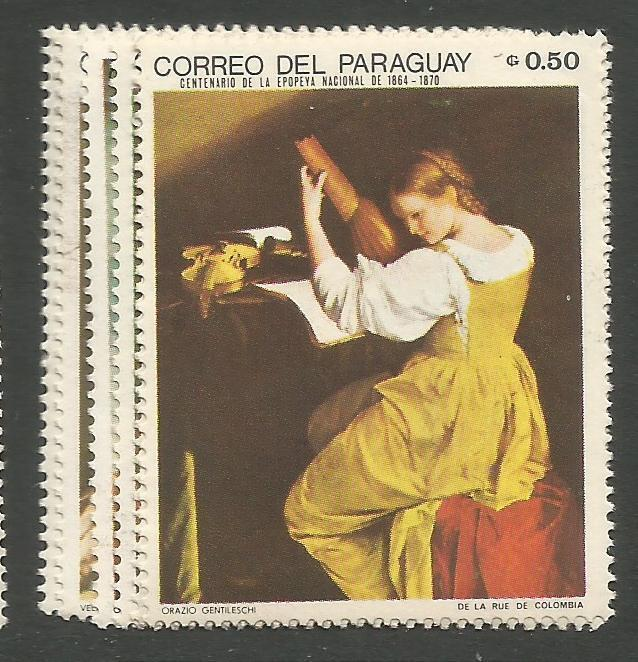 Paraguay SC 1099-104 MOG (8ctj)