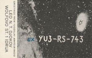 7169 Amateur Radio QSL Card  IDRIJA SLOVENIA